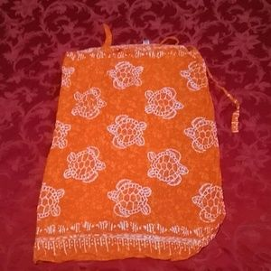 Indonesian Turtle Sarong / skirt / beach cover up